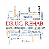 image of mandate  - Drug Rehab Word Cloud Concept with great terms such as patients addicts help and more - JPG