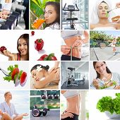 pic of compose  - Healthy lifestyle  theme collage composed of different images - JPG