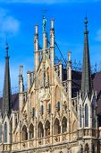 Munich, Gothic City Hall Facade Details, Bavaria, Germany