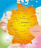 Vector detailed map of Germany country