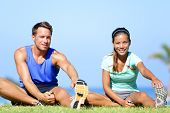 pic of lovers  - Stretching exercises  - JPG