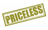 picture of priceless  - priceless grunge stamp with on vector illustration - JPG