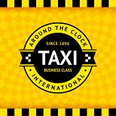 Taxi symbol with checkered background -