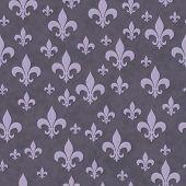 picture of fleur de lis  - Purple Fleur - JPG