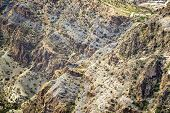 stock photo of jabal  - Image of landscape Jebel Akhdar Saiq Plateau in Oman - JPG
