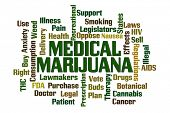 image of medical marijuana  - Medical Marijuana word cloud on white background - JPG