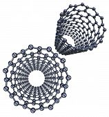 foto of graphene  - crystal lattice 3d model of a crystal lattice - JPG