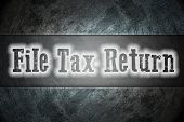image of self assessment  - File Tax Return Concept text on background - JPG