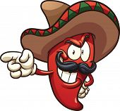 image of mexican  - Cartoon Mexican pepper - JPG