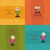picture of special day  - abstract grandparents day background with some special objects - JPG