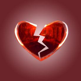 image of broken-heart  - isolated broken heart - JPG