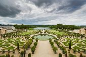 picture of versaille  - Beautiful garden in a Famous palace Versailles Paris France - JPG