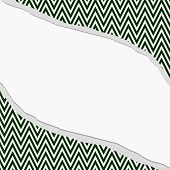 picture of chevron  - Hunter Green and White Chevron Zigzag Frame with Torn Background with center for copy - JPG