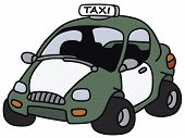 picture of cabs  - Hand drawing of a funny cab  - JPG