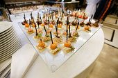 stock photo of canapes  - Catering  - JPG