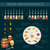 stock photo of porter  - Beer infographics - JPG