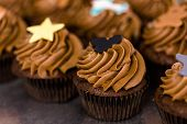 picture of cupcakes  - Baking chocolate cupcakes at the cupcake store - JPG