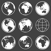 foto of planet earth  - Set of earth planet globe logo icons for web and app - JPG