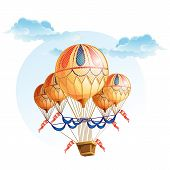 picture of air transport  - Image of a hot air balloon in the sky - JPG