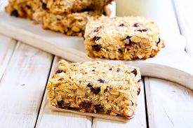 picture of oats  - Oat bars with cranberry nuts and seeds - JPG