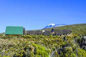 pic of kilimanjaro  - huts at Mount Kilimanjaro the highest mountain in Africa  - JPG
