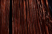 picture of copper  - Background Texture of Orange Copper Electrical Wire - JPG