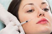 picture of medical injection  - Cosmetic injection in the spa salon - JPG