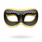 stock photo of mardi-gras  - The vector illustration of a carnival mask - JPG