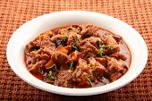 stock photo of nasi  - Tasty and spicy mutton roast from Indian cuisine - JPG
