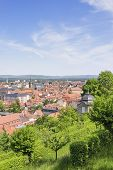 picture of bavaria  - Cityscape of Bamberg with blue Himmen in summer Bavaria Germany - JPG