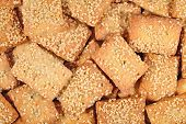 pic of sesame seed  - Cookies with sesame seeds as background texture - JPG