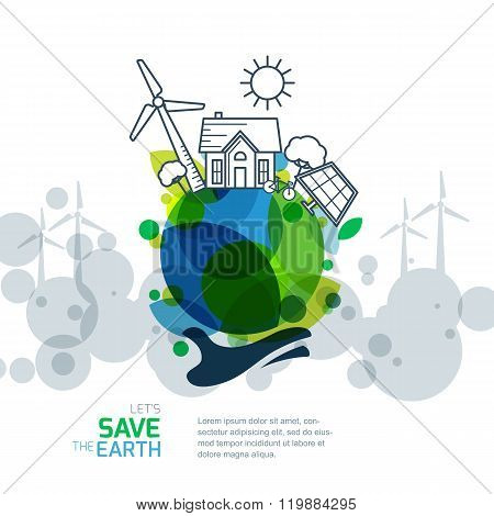 Background For Save Earth Day Environmental Ecology Nature Protection And Pollution Concept Poster ID 119884295