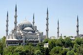 Постер, плакат: Вид голубой мечети в Стамбуле Турция