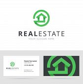 Постер, плакат: Real estate logo and business card template
