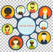 ������, ������: Social Media Design Flat Concept