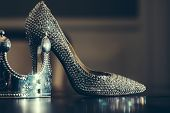 Постер, плакат: Glamour Shoe And Crown