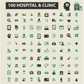 Постер, плакат: hospital clinic icons hospital clinic logo hospital clinic vector hospital clinic flat illustrati