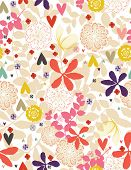 Floral Garden (Seamless Pattern) illustration