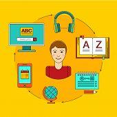 ������, ������: Foreign language education online
