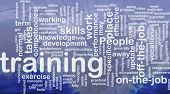Background concept wordcloud illustration of training international