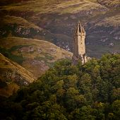 image of william wallace  - National Wallace Monument on the hill Stirling Scotland - JPG