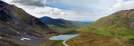 picture of hatcher  - Stunning view of Summit Lake perched atop Hatcher Pass popular tourist spot for hiking and broad panoramic views - JPG