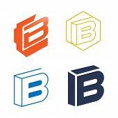 B Letter Logo Vector, B Letter Logo Design Vector Illustration Template, B Letter Logo Vector, Lette poster