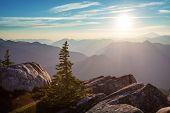 Beautiful mountain peak in  North Cascade Range, Washington / USA poster