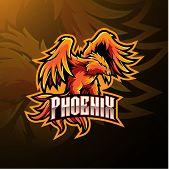 Phoenix Sport Mascot Logo Design With Text poster