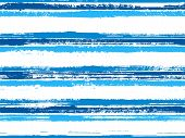 Hand Drawn Paint Stripes Fabric Print Seamless Vector. Wrapping Paper Lines Pattern. Hand Painted St poster