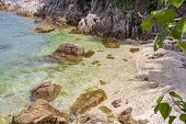 Beautiful Lagoon With Clear Crystal Clear Water On A Tropical Beach In Island Koh Phangan, Thailand poster