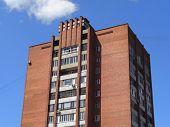 Soviet Architecture. Ust-kamenogorsk (kazakhstan). Apartment Building. Soviet Architectural Style. T poster