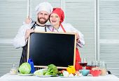 Family Day. Couple In Love Cooking Together. Family Values. Share Joy. Man And Woman Chef Cooking Fo poster