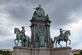 Empress Maria Theresia Of Habsburg Monument At Maria-theresien-platz In Vienna, Austria poster